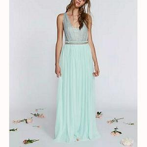 NWT Free People Cleo Maxi Dress Mint Size 0